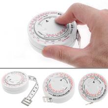 BMI ciało indeks masy chowana taśma 150cm miarka kalkulator dieta utrata masy ciała tanie tanio OOTDTY Obróbka metali 1 5 M Z tworzywa sztucznego Tape Measure