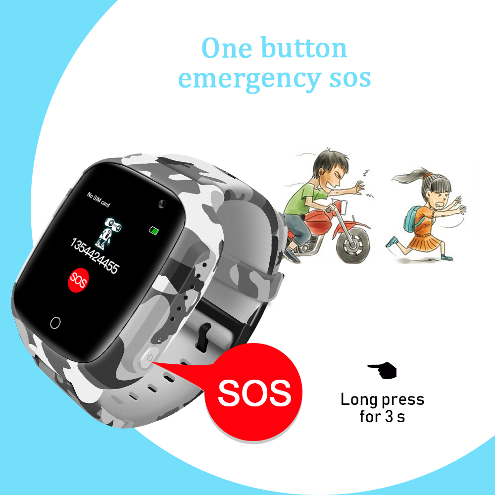 Image 3 - LEMFO LEC2 Smart Watch Kids GPS 600Mah Battery Baby Smartwatch IP67 Waterproof SOS For Children Support Take Video-in Smart Watches from Consumer Electronics