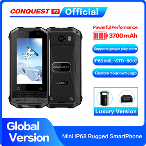 CONQUEST F2 Luxury Mini IP68 Rugged Smartphone 2020 Mobile Phone NFC Fingerprint Face ID Android 8.1 4G LTE Global Version