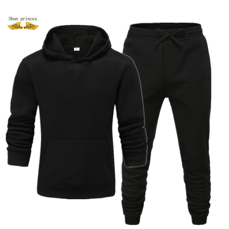 Spring Set Men New Sportswear Suit Clothes Tracksuits Male Sweatshirts +Sweatpants Mens Sporting Track Suits Free Transportation