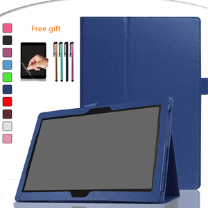Case for Lenovo TAB 4 10 TB-X304F -X304N -X304L Slim Folding Stand Cover PU Leather Case for Lenovo Tab4 10 Tablet Case+film+pen