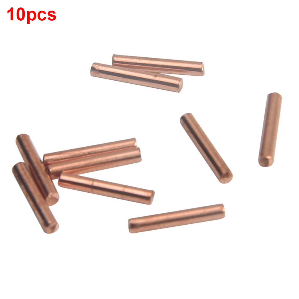 10pcs Li-ion Cell Machine Alumina Copper Welding Needle Battery For Welding Pen Replacement Spot No Spark Head For 709A 709AD