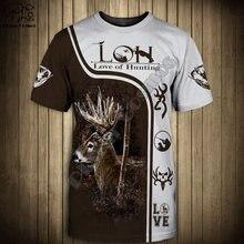 Мужская и женская модная футболка с изображением охотничьего