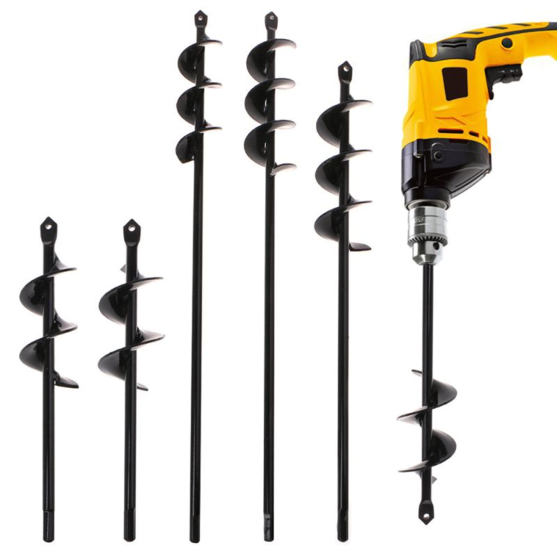 Spiral Twist Drill Home Yard Garden Flower Plant Farm Planting Auger Digger Loose Soil Hand Electric Drill Bit Tools