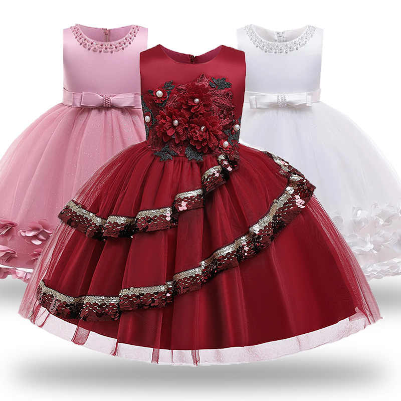 Children Girls Flower Tutu Princess Dress Wedding Party Christmas Birthday Gown