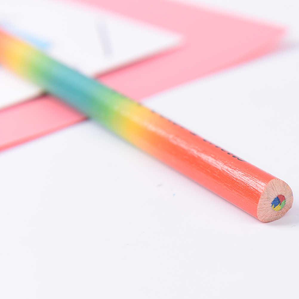 2 قطعة للأطفال رسم الفن المهنيين الثابتة الملونة أقلام رصاص قزحي الألوان مجموعات 4 ألوان مختلطة