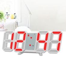 Многофункциональные цифровые электронные часы 3D светодиодный настенный стол яркость Регулируемый Повтор Будильник 12/24 час Температура Дата