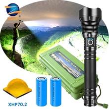 30000 Lm Xhp90 가장 강력한 Led 손전등 토치 Usb Xhp50 충전식 전술 손전등 18650 또는 26650 핸드 램프 Xhp70