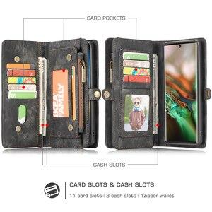 Image 2 - Voor Galaxy Note 10 Case Premium Koeienhuid Lederen Rits Afneembare Magnetische Wallet Cover Case voor Samsung Galaxy Note 10 Plus a50