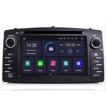 4G 64G DSP 2 din Android 10 car dvd multimedia player GPS autoradio for TOYOTA Corolla E120 e 120 BYD F3 car radio pc WIFI OBD2 image