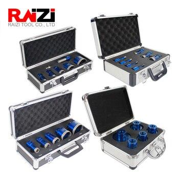 цена на Raizi Diamond Hole Saw Drill Bit Set For Ceramic Porcelain Tile Granite Marble Drilling  Hole Saw Cutter Kit Tool