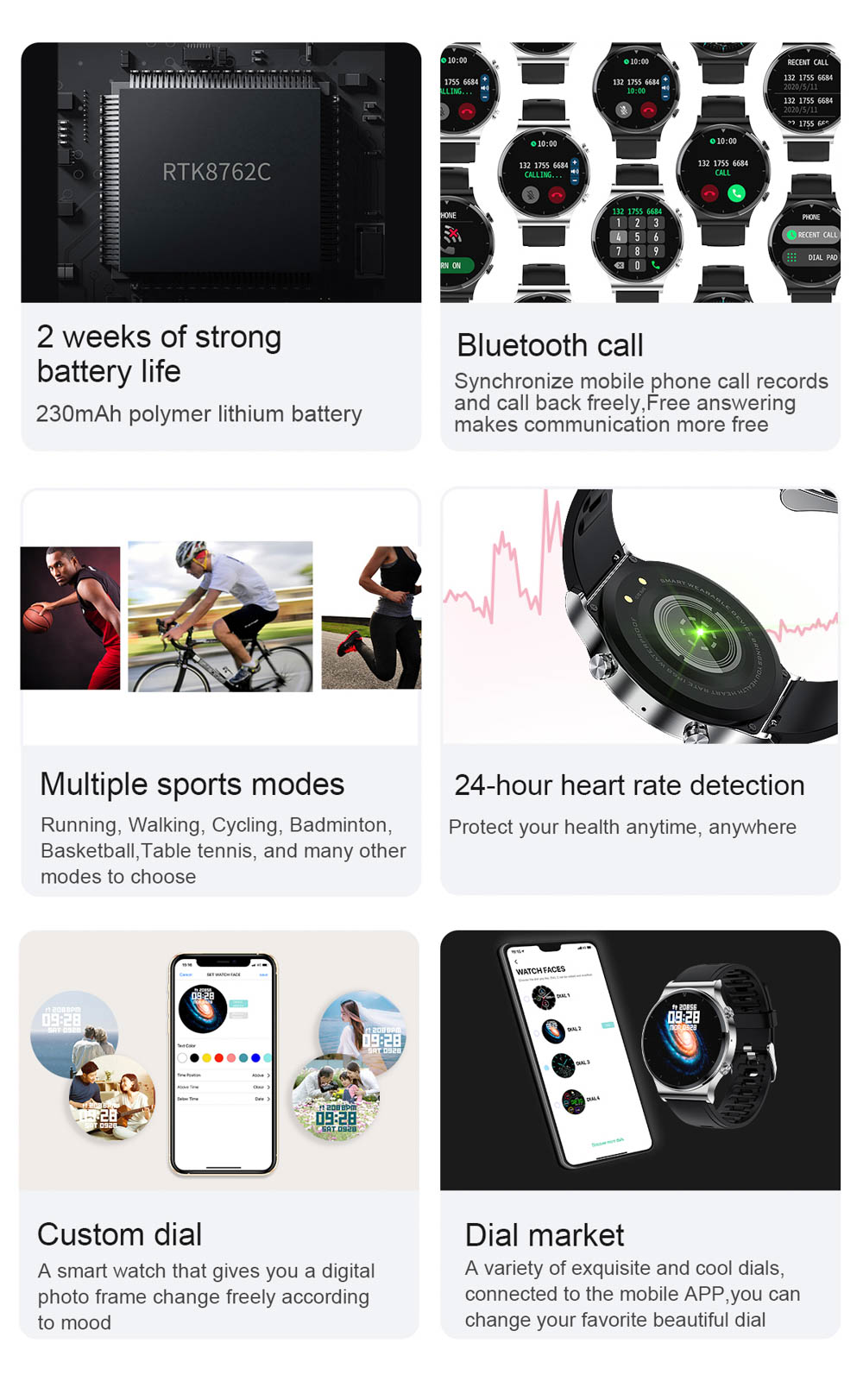 H668d2fa0220e4fb28479af11b831c9c4l NUOBO 2021 New Smart Watch Men Bluetooth Call Heart Rate Blood Pressure Sports IP68 Waterproof Smartwatch for Android IOS Phone