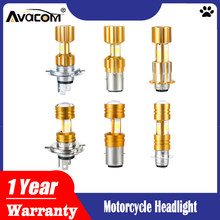 Motorcycle Headlight Bulbs H6 BA20D P15D H4 LED Hi Lo beam Moto LED Headlight Motorbike LED Lamps Conversion Kit Bulbs 3200LM(China)