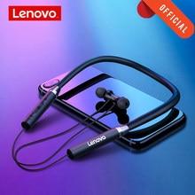 Lenovo HE05 bezprzewodowe słuchawki Bluetooth BT5.0 sportowe słuchawki do biegania IPX5 wodoodporne słuchawki sportowe magnetyczny zestaw słuchawkowy z mikrofonem