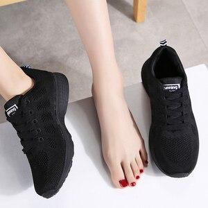 Image 3 - STQ 2020 ฤดูใบไม้ผลิรองเท้าผ้าใบผู้หญิงรองเท้าแบนหญิง Casual LACE up Breathable ตาข่ายรองเท้าผ้าใบผู้หญิงรองเท้าสตรีเดินรองเท้า a08