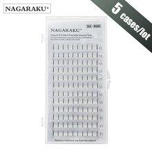 NAGARAKU-extensiones de pestañas 3D-6D, 5 cajas, volumen ruso, prefabricadas, suaves y naturales, cilios de alta calidad