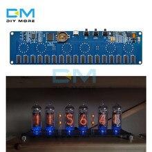 5v eletrônico diy kit in14 nixie tubo módulo digital led relógio presente placa de circuito kit pcba sem tubos