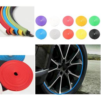 10 Colors Car Wheel Trim Tire Protection Ring Anti-Collision Strip Wheel Hub Anti-Scratch Strip Decorative Line Stickers Hot image