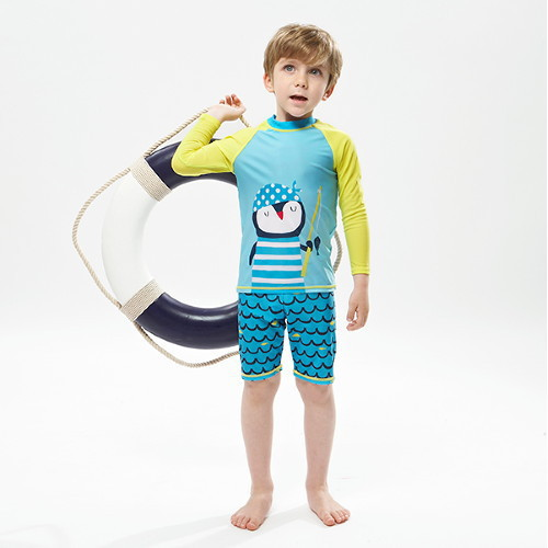 2018 KID'S Swimwear GIRL'S Split Type Children BOY'S Girls Baby Kids Sun-resistant Swimwear Swimsuit Set