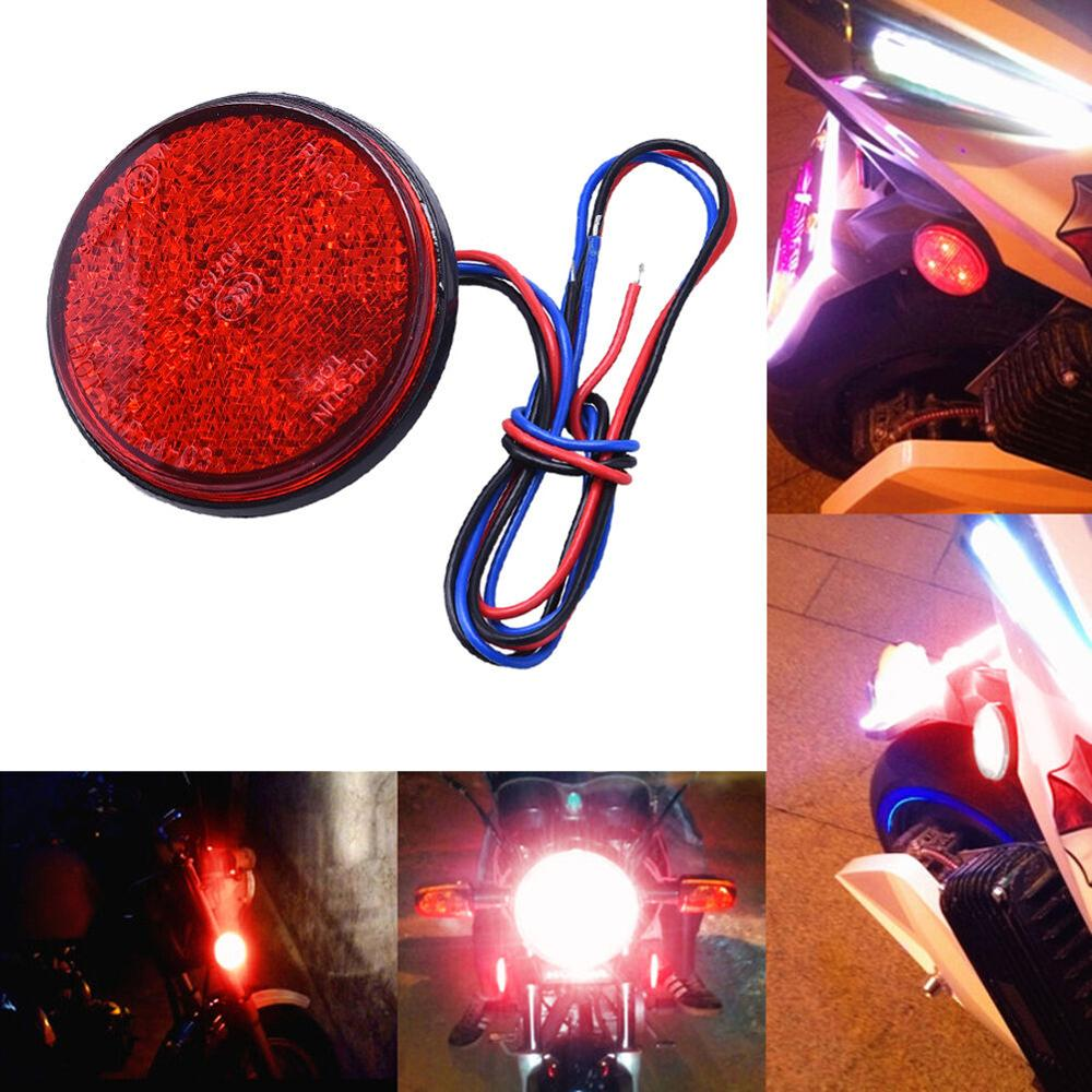24SMD Universal Tail Light Car Truck LED Reflector Tail Brake Stop Lights Car Motorcycle Round 24 LED Marker Parking Lights