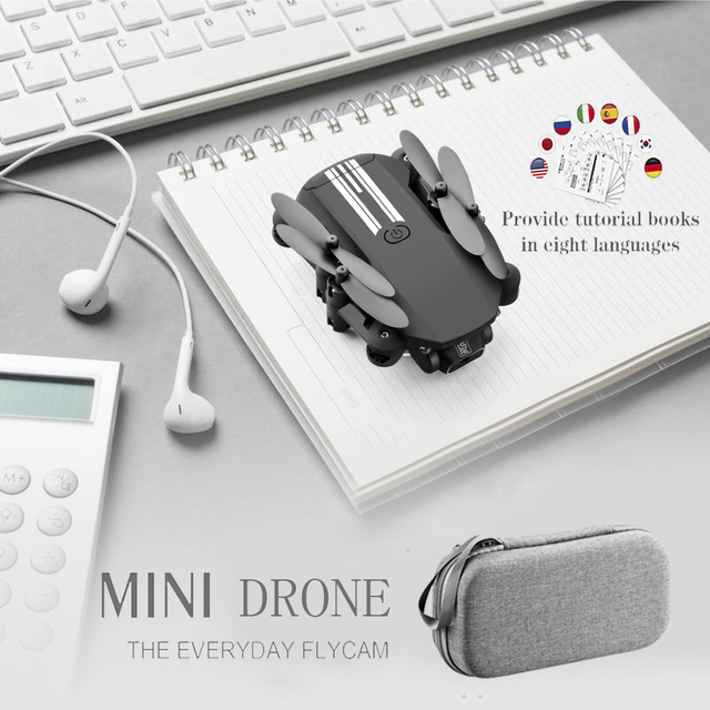Mini RC drone 4K HD Camera WiFi Fpv LS-MIN RC Foldable Pocket Quadcopter Profesional Helicopter Dron Grey Black Toys for boys