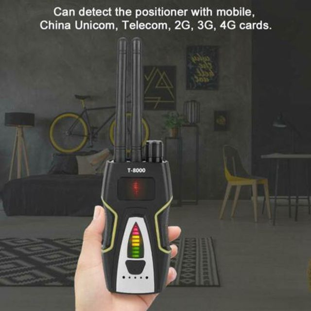 T8000 Anti- Spy Wireless RF Signal Detector Camera Detect GSM Audio Finder GPS Scan Detector Anti Candid Camera Signal Scanner 6