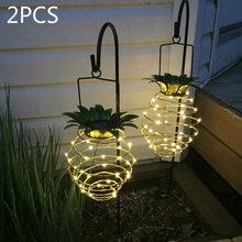 Горячий Солнечный садовый светильник s ананасовая форма наружная