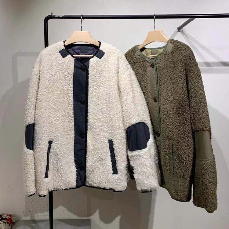 2019 hiver femmes manteau réversible en vrac de haute qualité femmes pardessus décontracté B124