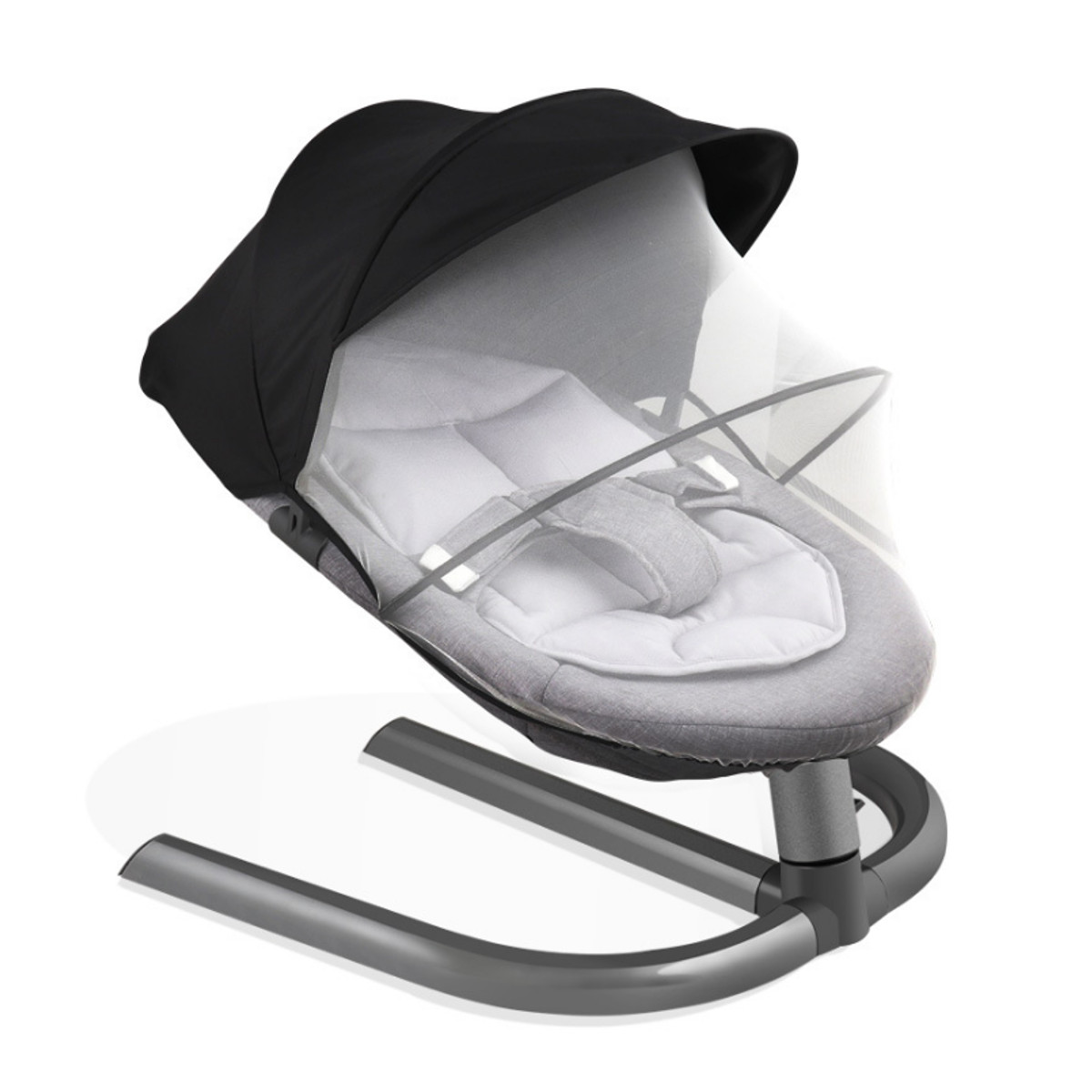 H668eae3c2bfc41109dc07159204abdf2t Newborn Electric Swing Multifunctional  Baby Bouncer Cradle Rocking Chair With Mosquito Net Cradle Crib Sleeping Safety Basket