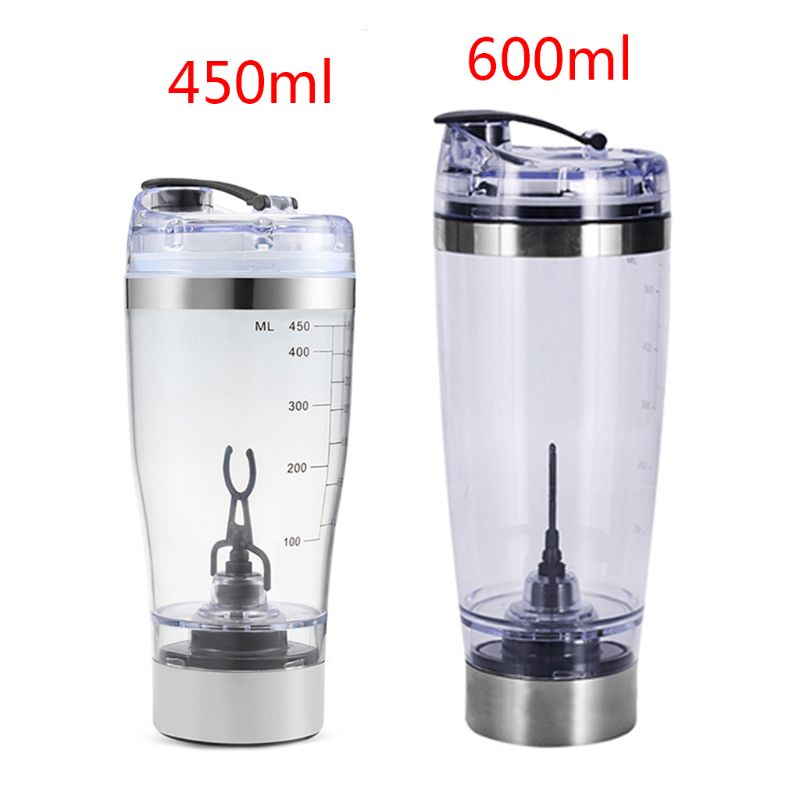 450ml/600ml Outdoor Portable Electric Protein Powder Mixing Cup Battery Powered Automatic Shaker Bottle Stirring Mixer image