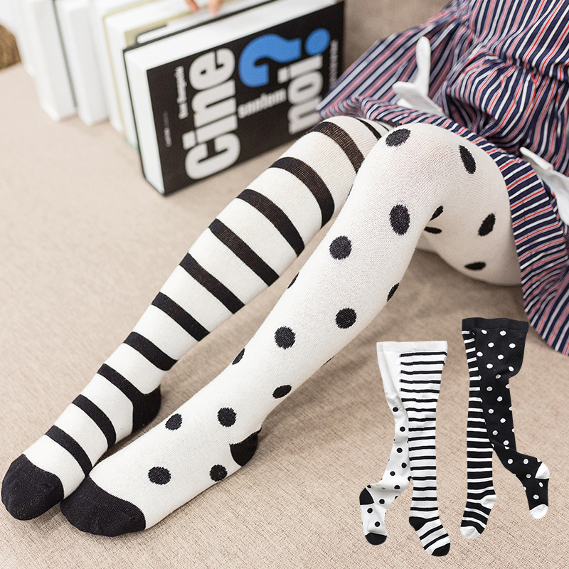 2020 Spring New Baby Pantyhose Children Girls Tights Cotton Toddler Girl Dot Stripes Boy Tights