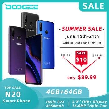 Купить DOOGEE N20 смартфон с 6,3-дюймовым дисплеем, восьмиядерным процессором MT6763, ОЗУ 4 Гб, ПЗУ 16 МП, 4350 мАч