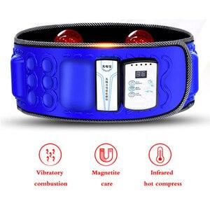 Image 4 - Correia abdominal infravermelha elétrica da cintura de 110 240v para perder peso massageador da aptidão vibração barriga queimar gordura dieta equipamento