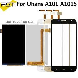 Dla Uhans A101 A101s wyświetlacz LCD + ekran dotykowy Digitizer dla A101 A101s części zamienne do ekranu LCD z narzędziami + klej