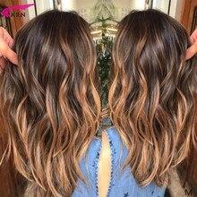 KRN wavy 13x6 lace front Human Hair Wig Brazilian Remy balay