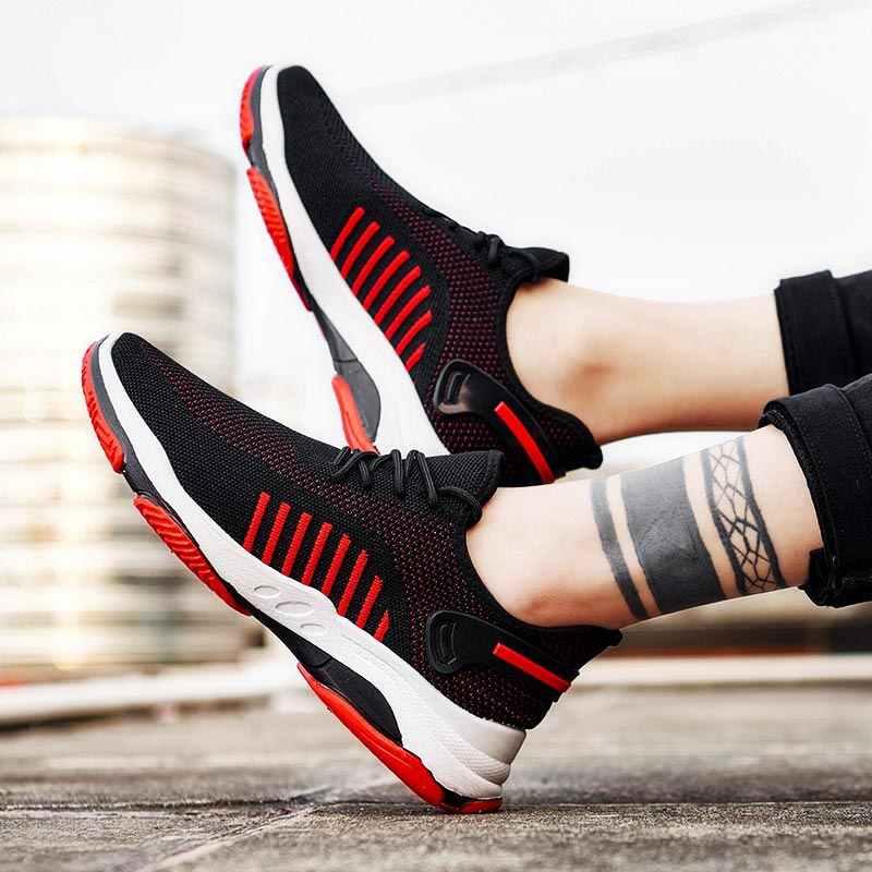 Yaz Anti kayma erkek koşu ayakkabıları erkek spor ayakkabılar 2020 erkek spor ayakkabı erkek spor ayakkabıları yürüyüş siyah eğitmenler erkekler ganimet B-420