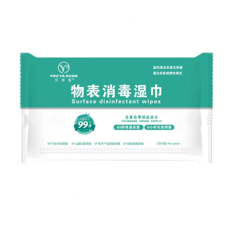 50Pcs NO Alcohol Wet Wipes Portable Disinfection Pads Sterilization Antiseptic