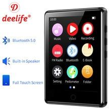 Deelife – lecteur MP3 Portable, Bluetooth 5.0, écran entièrement tactile, musique, lecture, avec Radio FM, enregistrement vidéo, podomètre