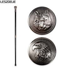 Eagle-Head Luxury Walking Stick Cane For Man Fashion Decorative Walking Stick Wolf-Head Elegant Hand Canes Vintage Knob Stick