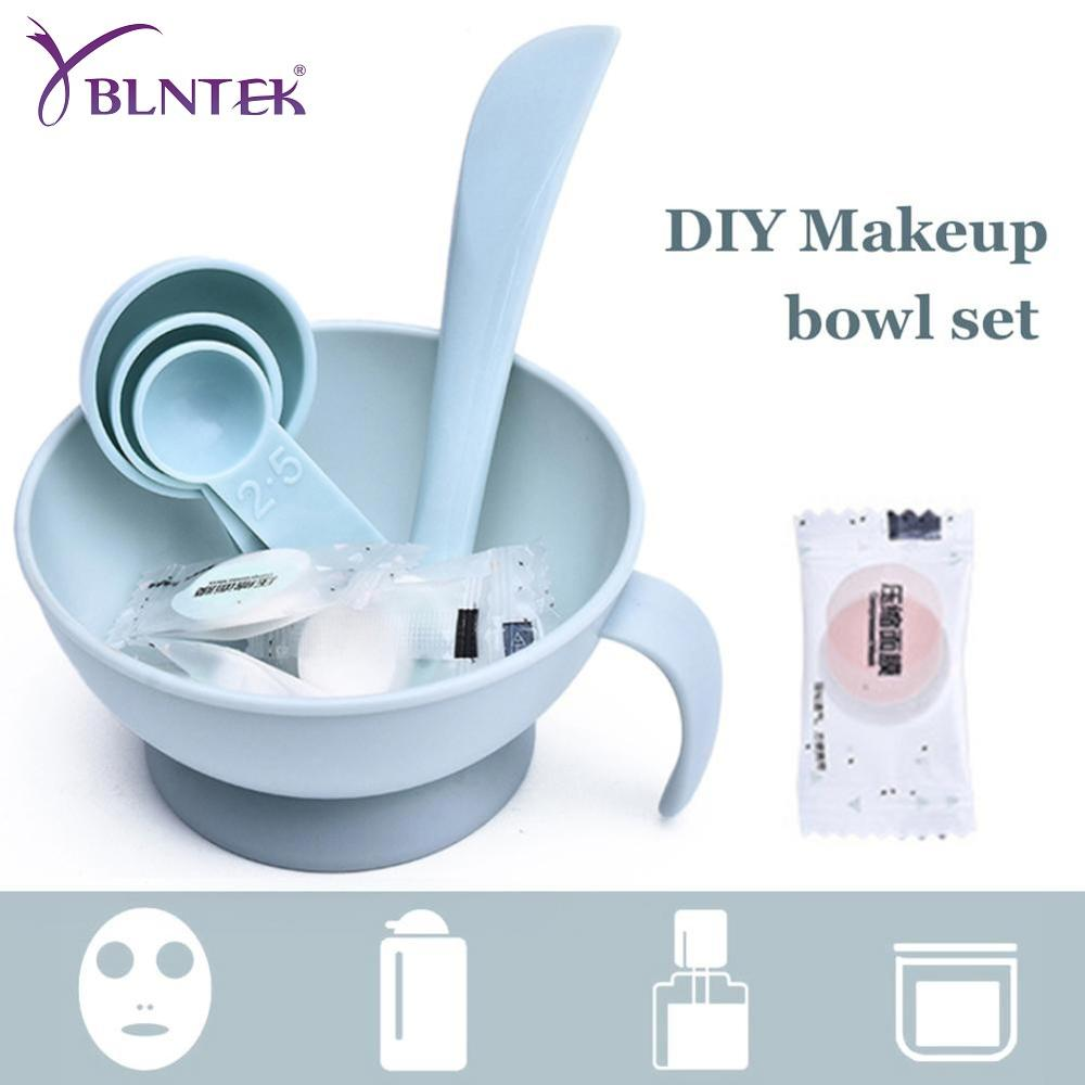 YBLNTEK 4PCS Face Mask Mixing Bowl Set Professional Facial Care Mask Tool Bowl Stick Brush Beauty Makeup Full Cosmetology Device