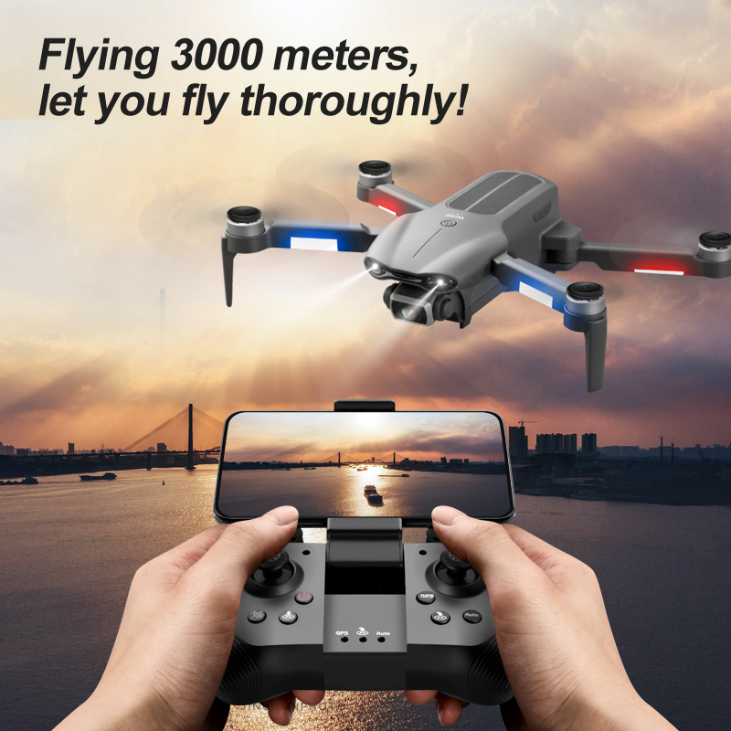 2021 mini F9 drone 6K dual HD camera 4K professional aerial photography brushless motor foldable quadcopter RC distance 1200M 5