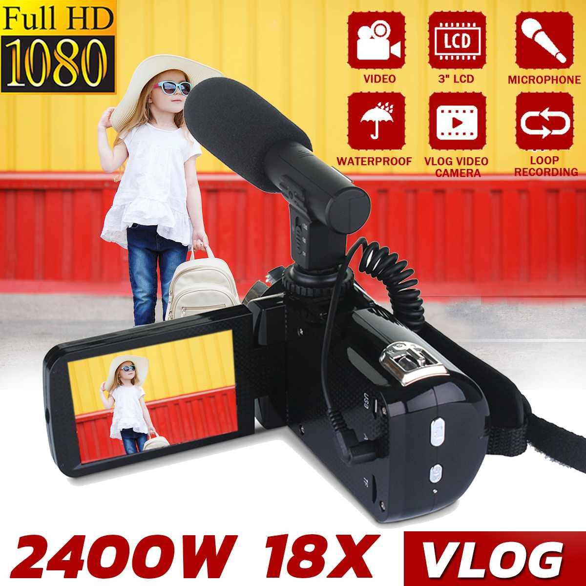 Sweet-Tempered Video Camera Camcorder Ordro 18x Digital Zoom Night Vision Vlogging Camera Filmadora For Youtube Blogger Lovely Luster
