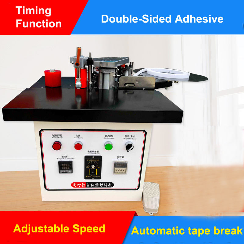 Speed Control Mini Manual Wood Pvc Edge Banding Machine With Cut Pvc Edge Bander Itself Automatic Tape Break Woodworking