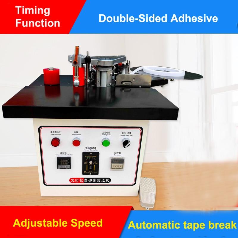 Speed Control Mini Manual Wood Pvc Edge Banding Machine With Cut Pvc Edge Bander Itself Automatic Tape Break Woodworking