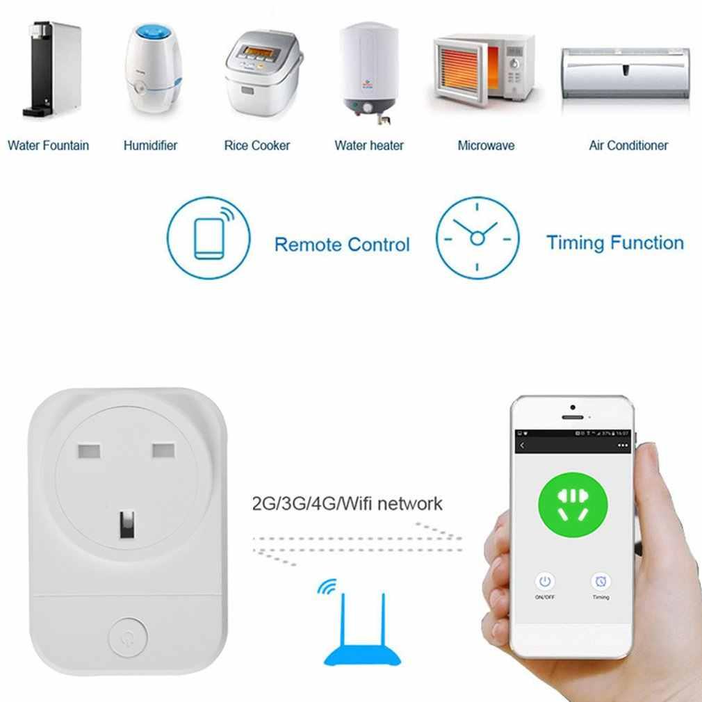 Wifi enchufe inteligente aplicación de móvil domótica momento interruptor de Control remoto teléfono App tiempo interruptor de Control remoto Socket Wifi