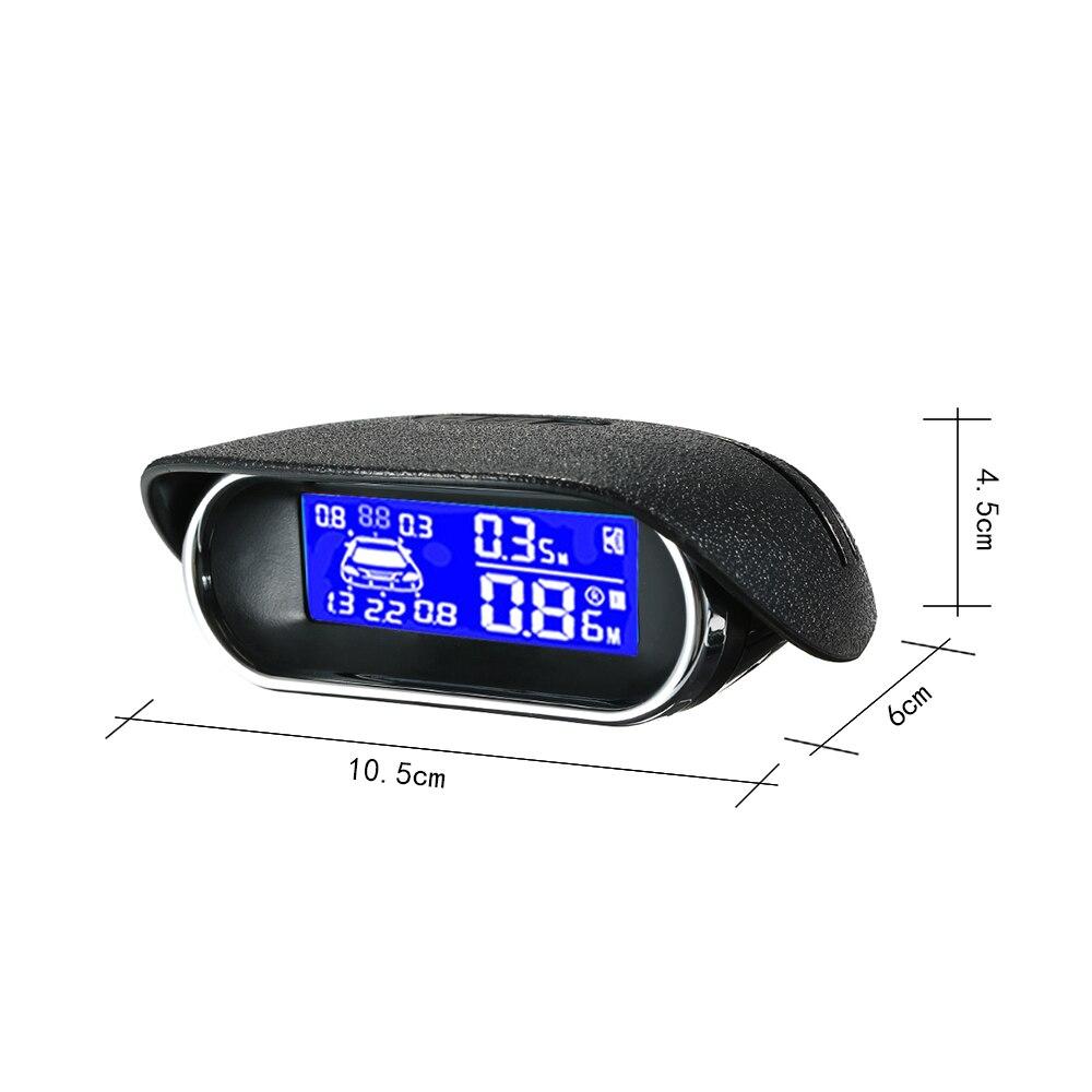Capteurs de stationnement Auto voiture système de Radar de recul aide au stationnement de voiture Radar de recul écran LCD style de voiture - 3