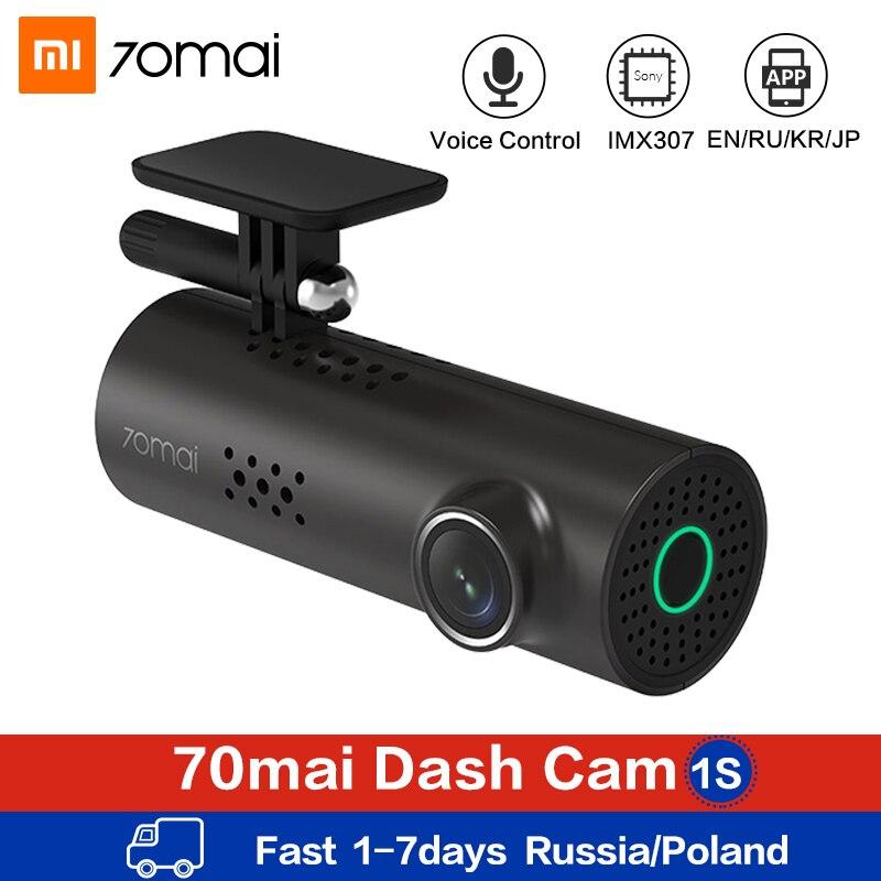 Xiaomi 70mai Автомобильный видеорегистратор Камера с голосовым управлением 1080P HD Dash Cam Wifi ночное видение 130 широкоугольная Автомобильная камера видео рекордер g сенсор