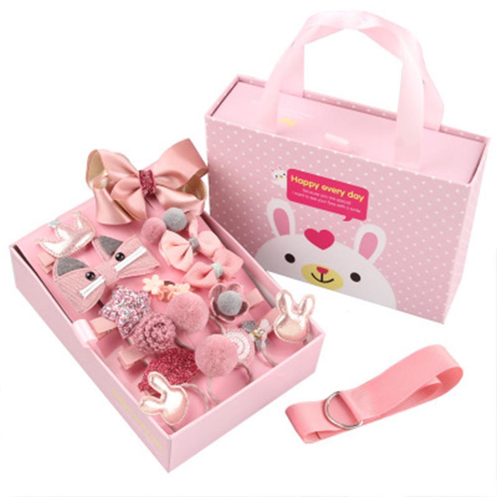 Hot Mix 15Pcs/box Baby Hair Clips Cartoon Flower Giltter Rabbit Princess Crown Ribbon Bow Hairpins For Girls Hair Accessories