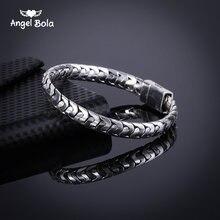 Крутой Модный высококачественный старинный серебряный браслет