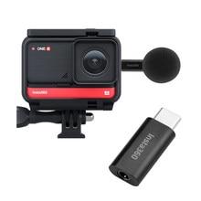 Miniadaptador de micrófono para Cámara de Acción Insta360 One R, Tipo portátil-C a 3,5mm